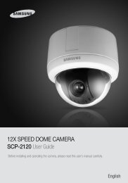 12X SPEED DOME CAMERA SCP-2120 User Guide - Samsung CCTV