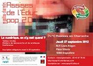 Programme actualisé des Assises Educ Pop 2.0 - Les Petits ...