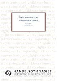 Studie og eksamensregler - Handelsskolen Silkeborg