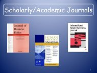 Academic Journals/Trade Publications/Popular Magazines