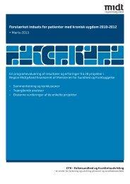 Forstærket indsats for patienter med kronisk sygdom 2010-2012