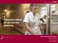 Organisering af behandlingen på Geriatrisk - Region Midtjylland