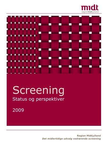 Screening - CFK Folkesundhed og Kvalitetsudvikling - Region ...