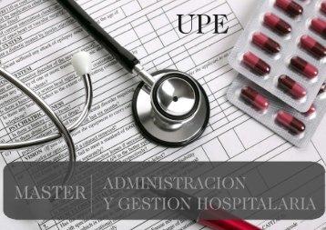 Máster en Administración y Gestión Hospitalaria