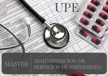 Máster en Administración en Servicios de Enfermería
