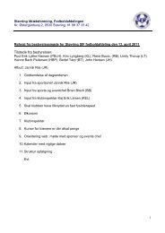 Tilstede fra bestyrelsen: - KlubCMS - DBU