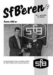 Årets SfB'er - DBU