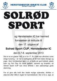 Solrød Sport CUP, Herstedøster IC - KlubCMS - DBU