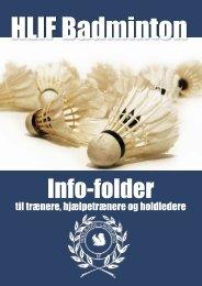 Trænermappe badminton - Houlbjerg-Laurbjerg Idrætsforening