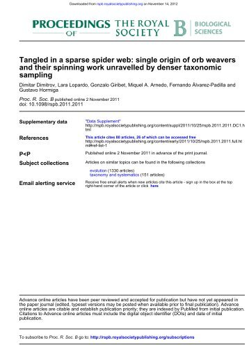 Tangled in a sparse spider web: single origin of orb weavers and ...