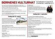 børnenes kulturnat børnenes kulturnat - Gl. Lindholm Skole