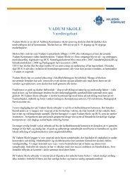 Værdiregelsæt og Trivselspolitik for Vadum Skole