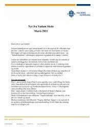 Nyt fra Vadum Skole Marts 2011