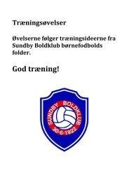 Eksempler på træningsøvelser kan hentes her i ... - Sundby Boldklub