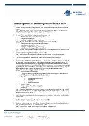 Forretningsorden for skolebestyrelsen ved Vadum Skole 06.09.10