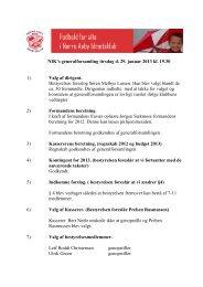 NIK's generalforsamling tirsdag d. 29. januar 2013 kl. 19.30 1) Valg ...