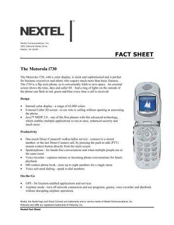 FACT SHEET - Nextel