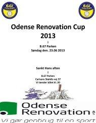 Odense Renovation Cup 2013 - B 67
