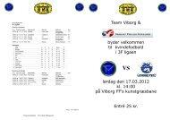 Team Viborg & byder velkommen til kvindefodbold i 3F ligaen lørdag ...