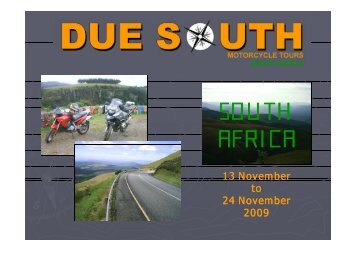 SOUTH AFRICA - MC Touring Club