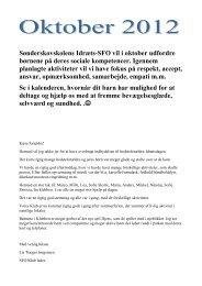Sønderskovskolens Idræts-SFO vil i oktober udfordre børnene på ...