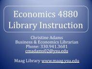 Full Economics 4880 Library Presentation