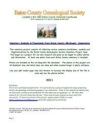 Cemetery Symbols Project - Eaton County Genealogical Society