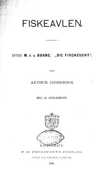 A. Feddersen, FISKEAVLEN, efter M. V. D. Borne ... - Runkebjerg.dk