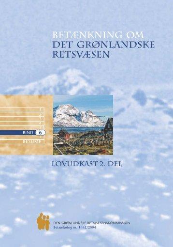 Betænkning 1442 om det grønlandske retsvæsen, bind 6 - Krim
