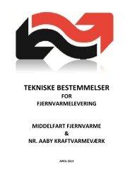 Tekniske bestemmelser for fjernvarmelevering - Middelfart Fjernvarme