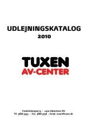 Tuxen Udlejningskatalog 2010- PDF (1) - tuxen av-center