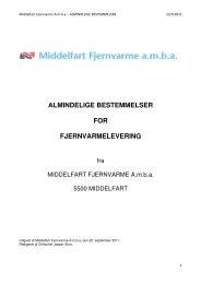 Almindelige bestemmelser for fjernvarmelevering - Middelfart ...