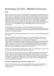 formandens beretning for 2011 - Middelfart Fjernvarme