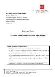 Fragebogen - Lehrstuhl für BWL, insb. Organisation, Personal und ...