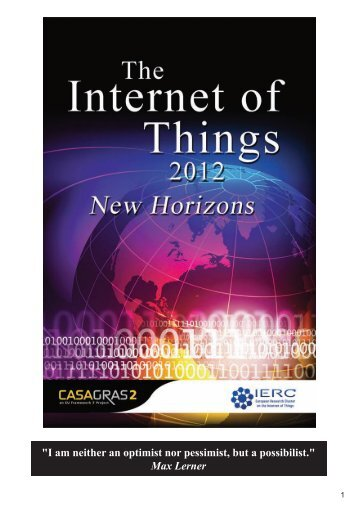 The Internet of Things 2012 - New Horizons - IERC-European ...