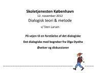 DIALOGISK UNDERVISNING - Skoletjenesten