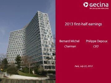 H1 2013 earnings - Gecina