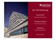 2011 first-half earnings - Gecina