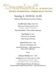 hent programmet her - Esbjerg International Chamber Music Festival