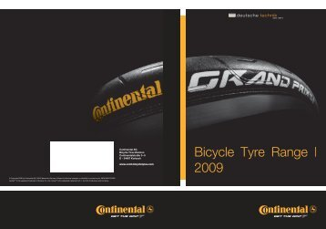 Bicycle Tyre Range | 2009 - Continental Tyre Group AG