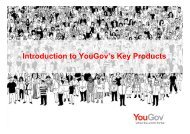 Introduction to YouGov's Key Products