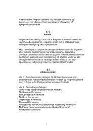 Aftale mellem Region Sjælland /Ny Holbæk kommune og kommuner ...