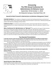 Announcing The Fifth Annual Conference For ... - MSLBD