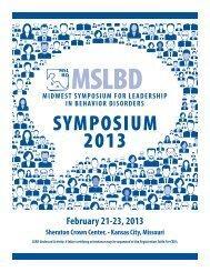 2013 Conference Program - MSLBD