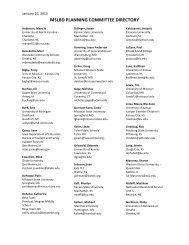 2013 Planning Committee Membership Listing - MSLBD