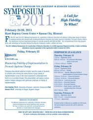 February 24-26, 2011 - Midwest Symposium for Leadership - MSLBD