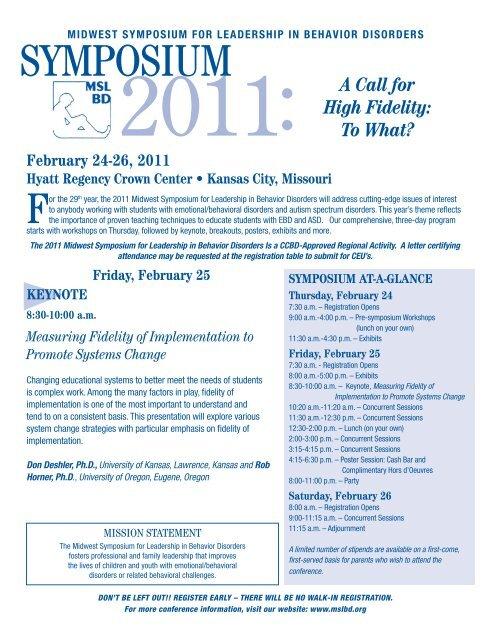 2011 Conference Flyer - MSLBD
