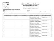 Group Registration Form - MSLBD