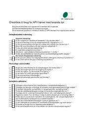 Checkliste til brug for APV kørsel med levende dyr - BAR transport ...