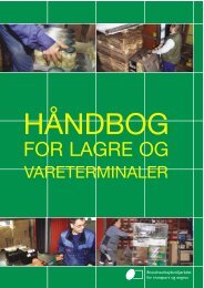 HÃ¥ndbog for Lagre og vareterminaler - BAR transport og engros
